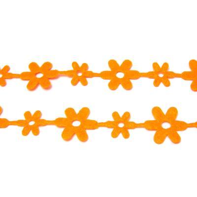 Лента с цветочками фетр