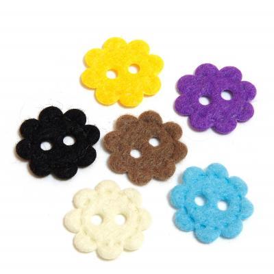 Фетровые пуговицы в форме цветочка