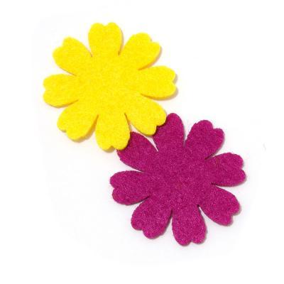 Цветы из фетра вырезать