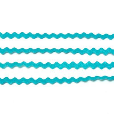 Лента волна голубая тонкая