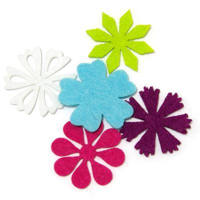 Цветы вырезанные из фетра