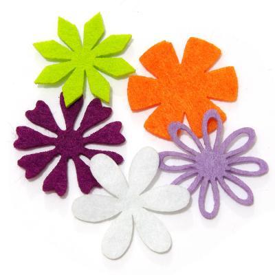 Цветы как сделать из фетра