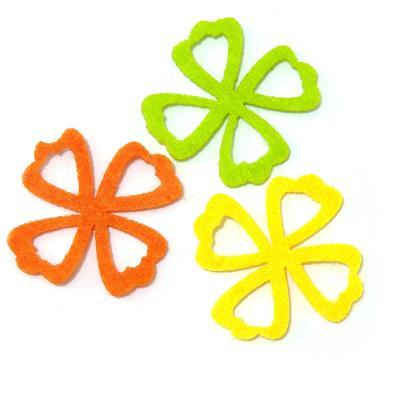 Цветочки из фетра фигурные для скрапбукинга