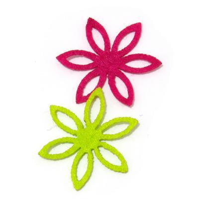 Фигурные цветочки из фетра для скрпабукинга