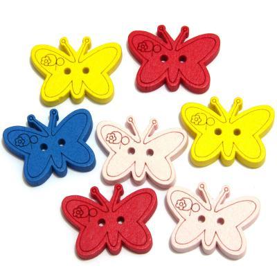 Пуговицы детские бабочки