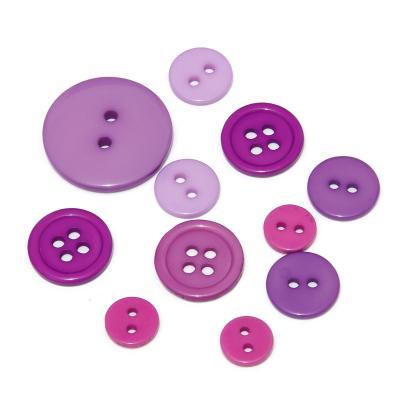 Пуговицы фиолетовые пластиковые