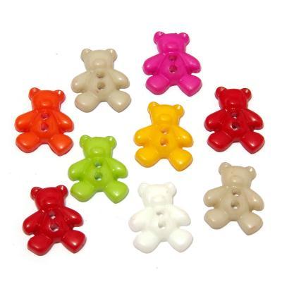 Пластиковые пуговицы мишки