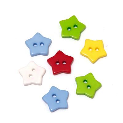 Пуговицы звездочки из пластика