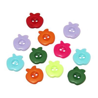 Пуговицы яблочки пластиковые