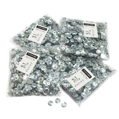 Пайетки серебро перламутровые
