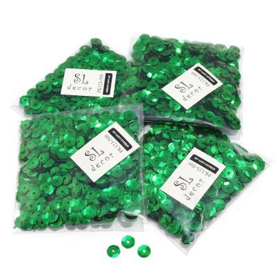 Пайетки перламутровые зеленые