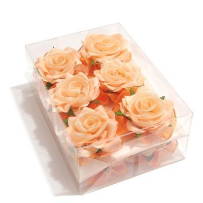 Головки персиковых роз тканевый