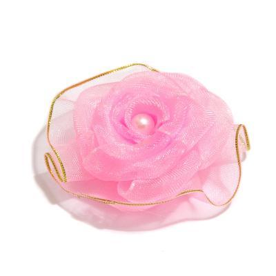 Розовая розочка для изготовления украшений