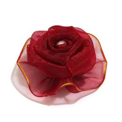 Головка розы для изготовления заколок