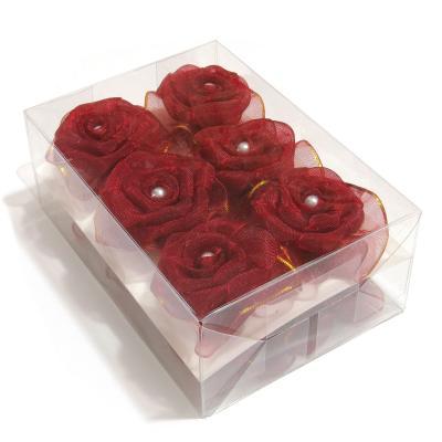 Розочки из красной органзы