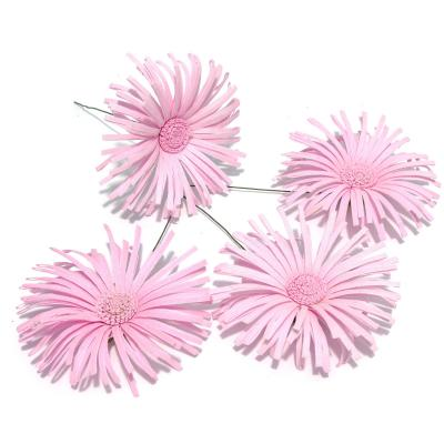 Розовая хризантема из ткани набор