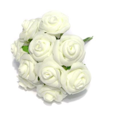 Кремовые розочки из латекса для свадьбы