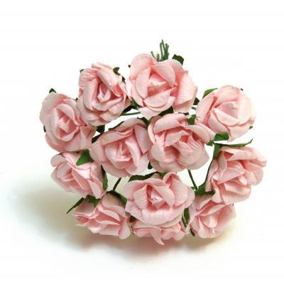 Розочки розовые головки мини