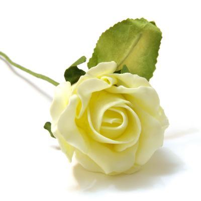 Кремовая роза из пенки
