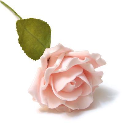 Розочка декоративная розовая