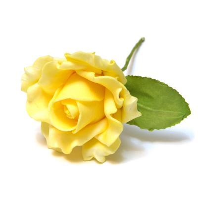 Розы искусственные желтые