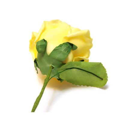 Розы желтые головки искусственные