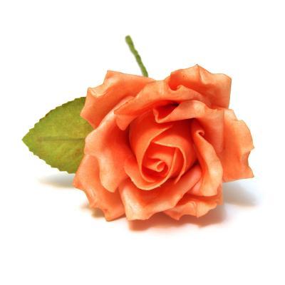 Латексные розы оранжевого цвета