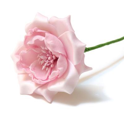 Роза из пенки розовая