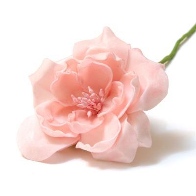 Персиковые розы из латекса
