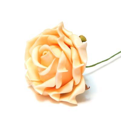 Розочка из вспененного латекса персиковая