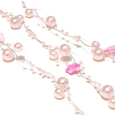 Гирлянда из бусин розовая