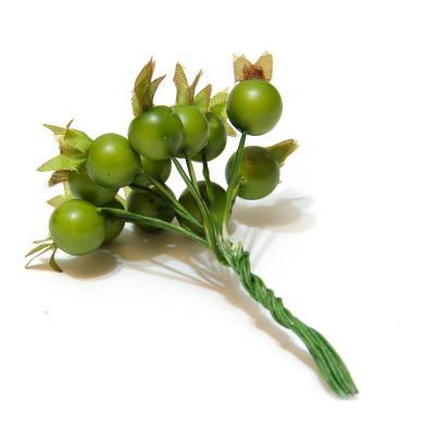Ягодки зеленые на проволочках