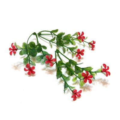 Красные цветочки пластик