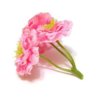 Веточка с цветочками светло-розовая