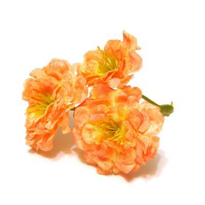 Оранжевые розочки для декора и топиария
