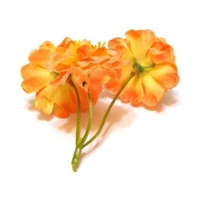 Розочки оранжевые для заколок