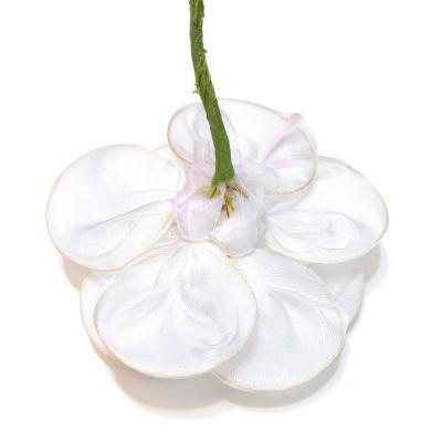 Головка цветка белая атласная