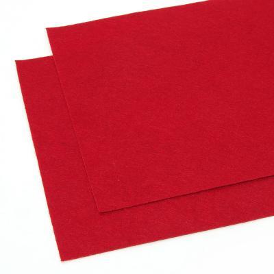 Фетр красный листовой