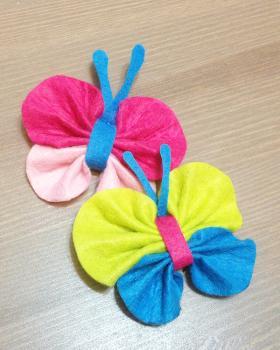 Бабочки из фетра своими руками