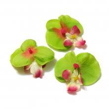 Головка орхидеи из ткани