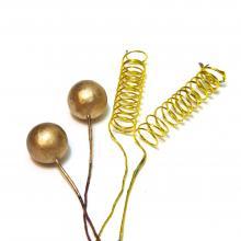 Спиральки и шарики золото