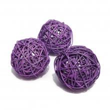 Фиолетовые шарики ротанговые