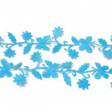 Лента голубая с бабочками
