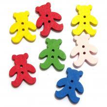Пуговицы мишки разноцветные детские
