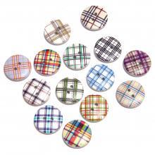 Пуговицы Шотландия деревянные круглые