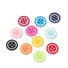 Пуговицы круглые разноцветные