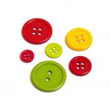 Пуговицы набор разноцветные пластиковые