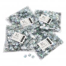 Пайетки голографические серебро