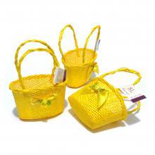 Корзинки для декора овальные желтые