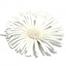 Головка хризантемы белая из ткани